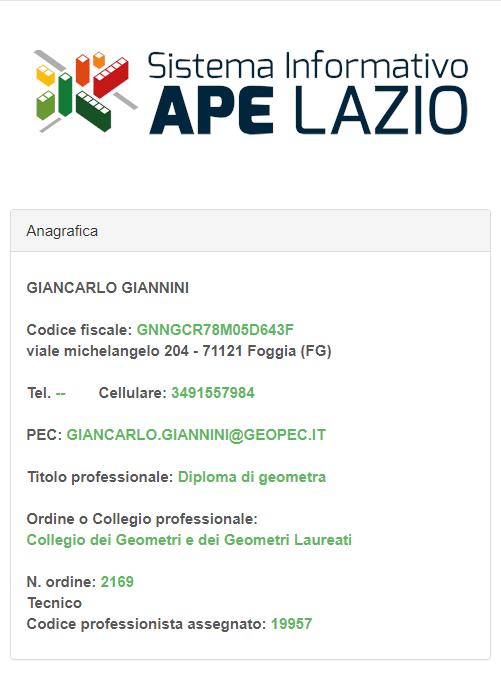 Accreditamento APE Regione Lazio